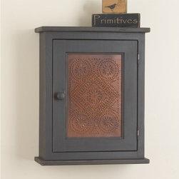 Wooden Medicine Cabinet in Black -