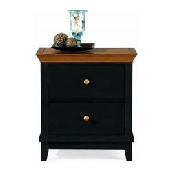 """American Drew 181-420BM Drawer Night Stand - Black w/ Maple Top Sterling Pointe - Drawer Night Stand - Black w/ Maple Top - American Drew Sterling Pointe Collection 181-420BMFeatures:2 DrawersThis Price Includes:Drawer Night Stand - Black w/ Maple TopItem:Weight:Dimensions:Drawer Night Stand - Black w/ Maple Top66 lbs26"""" W X 17"""" D X 28"""" HManufacturer's Materials:Maple and Hardwood SolidsMaple & Poplar Veneers & Simulated Wood Components"""