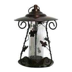 Heath - Decorative Leaf Mixed Seed Feeder - Decorative Leaf Mixed Seed Feeder- The Vineyard Collection. Exclusive to Heath, Perfect for adding a decorative touch to your landscape. Holds 1lb of seed, meets WBFI Standards