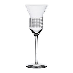 Bomma - Line Collection Crystal 6.8 oz White Wine Glass - Set of 2 - Set of 2 - The Lines Collection Crystal 6.8 ounce White Wine Glass celebrates uniqueness and simplicity in surprisingly minimalist style. It has strong visual performance when rotating all round and extraordinary feeling due to intersection of horizontal and vertical lines. The LINES pattern is designed by Olgoj Chorchoj Studio. It is manufactured manually and refined to perfection on state-of-the-art cutting robots.