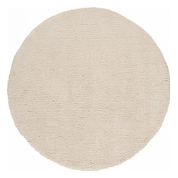 Continental Rug Company - Cloud Shag Rug, Ivory, 3' Round - The Cloud Collection is a selection of super soft, super plush shag rugs.  These 100% microfiber polyester shags are hand made in China in several trendy solid colors as well as mix and pattern designs and work excellently in a  variety of décor including but not limited to contemporary, modern and casual.