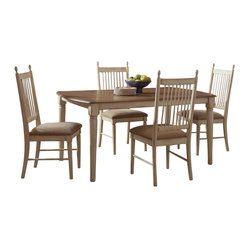 Liberty Furniture - Liberty Furniture Cottage Cove 5 Piece 80x40 Dining Room Set in Light Wood ...