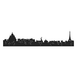 RoomMates - Living in Paris Peel & Stick Giant Wall Decals - Bring the Paris skyline to your wall with this dark and dramatic wall sticker. This modern, versatile design can be used as a headboard or behind furniture, or applied on its own on any smooth surface. Great for dorm rooms, living areas, or teen bedrooms. Move it around as you please and reposition as necessary, all without damaging the wall. A charming gift for those who dream of traveling to Paris!