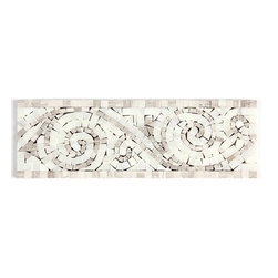 Stone & Co - Timber White Marble and Arabescato Carrara Mix Marble Art Border - Finish: Polished