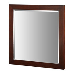 """Xylem - Xylem-M-ESSENCE-30DW Essence 30"""" Mirror in Dark Walnut - Xylem-M-ESSENCE-30DW Essence 30"""" Mirror in Dark WalnutXylem is a brand of Xylem Group, LLC that designs and manufactures a diverse selection of product for the bath, including vanities, faucets, mirrors, and sinks in traditional, transitional, and contemporary styles.  The Essence collection from Xylem is beautiful in its simplicity. The Essence mirrors are the perfect complement for the Essence vanity and can also be matched with the components from Xylem's Blox collection.Xylem-M-ESSENCE-30DW Essence 30"""" Mirror in Dark Walnut, Features:• Essence 30"""" Bathroom Vanity Mirror"""