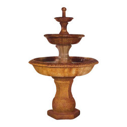 Grande Barrington Outdoor Fountain, Natural - *Please Note: Our color chart is for example purposes only.  Monitor settings and how the finish is applied to these outdoor water fountains can vary to what is shown in the color chart.  Actual stone samples of each finish can be purchased to help you make your finish choice.
