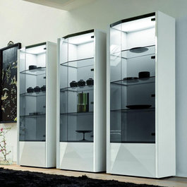 ... . The cabinet also features 3 glass shelves, right sided glass door
