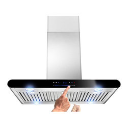 AKDY - AKDY AK-ZH605A Euro Stainless Steel Island Mount Range Hood, 36 - An island version of H508A. The H605A is perfectly welded to give it a slick, streamlined look and insure that there are no sharp, dangerous edges, and double-sided sliding control panel. This range hood features an all-new multifunction LED indicator that makes working this range hood a snap by using a convenient speed level and delay shut-off display. AKDY Hoods has an unique ability to design and manufacture range hoods that are safe and easy to operate but still powerful. Their high performance range hoods are approved in the United States and Canada.