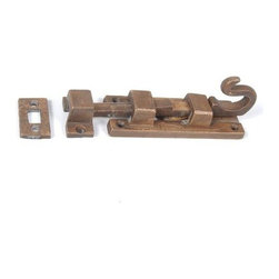 Restorers 5 1/4 Inch Shutter Slide Bolt - This hand forged bolt is offered in several rustic finishes to match any decor. Matching mounting hardware included.
