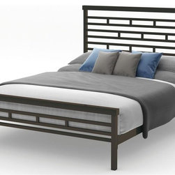 Amisco - Highway Bed in Dark Hammered Brown Finish (Qu - Choose Size: QueenCobrizo metal frame. Full: 80.38 in. L x 54.5 in. W x 47.25 in. H (110.5 lbs.). Queen: 85.75 in. L x 62 in. W x 47.25 in. H (114.5 lbs.)