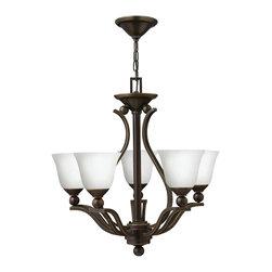 Hinkley Lighting - Hinkley Lighting 4655OB-OPAL Bolla Olde Bronze 5 Light Chandelier - Hinkley Lighting 4655OB-OPAL Bolla Olde Bronze 5 Light Chandelier