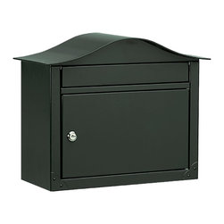 Architectural Mailboxes - Lunada Locking Wall Mount Mailbox Black - This mailbox is big on security. For one thing, it's constructed of heavy gauge steel and offers a locking door with two keys. Add to that, the super-sized door lets you receive larger deliveries such as magazines, catalogs and mail bundles without alarming tears, scrapes or mangled corners.