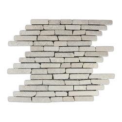 CNK Tile - Cream Pencil Stone Mosaic Tile - Usage: