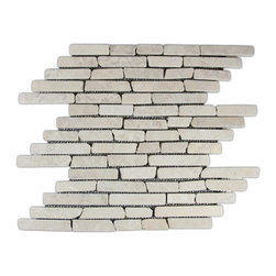 CNK Tile - Cream Pencil Stone Mosaic Tile - Usage: