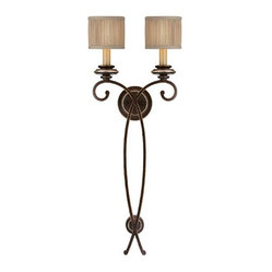 Capital Lighting 1957CZ-406 2 Light Sconce Park Place Collection