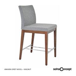Soho Concept Aria Wood Stool Fabric - Soho Concept Aria Counter and Bar Stool Wood Fabric