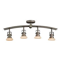 Kichler - Kichler Structures 4 Light Track Lighting in Olde Bronze - Shown in picture: Kichler Fixed Rail 4Lt Halogen in Olde Bronze