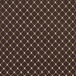 Brown, Stitched Diamond Jacquard Woven Upholstery Fabric By The Yard - This material is an upholstery grade jacquard fabric. It is lightweight, but is rated heavy duty and upholstery grade.