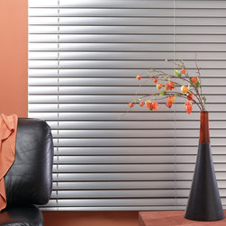 "2"" Heritage 8 Gauge Aluminum Mini Blinds - Bali 2"" Heritage 8 Gauge Aluminum Blinds feature extra large aluminum slats that allow for a clearer view of the outside when open. These aluminum blinds are dent and crease resistant and come in an anti-static, antimicrobial polyester-baked finish."