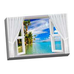 Picture it on canvas - Paradise Windows, Ocean View - Feel the tranquility in the air and sand between your toes with these sun-drenched pictures of some of the world's most stunning landscapes.