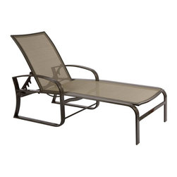 Woodard - Woodard Cayman Isle Flex Sling Adjustable Chaise Lounge Multicolor - 3N0470 - Shop for Chaise Lounges from Hayneedle.com! Say hello to Mr. Sun for us and give him our best as you're slathering on the sunscreen and hanging out on the Woodard Cayman Isle Flex Sling Adjustable Chaise Lounge. The design is truly an outdoor classic offering multiple reclining positions for the tall back next to a seat that's wide and long and ready for summer. This poolside staple is crafted from rust-proof aluminum with a powder-coated finish that gives it a sleek appearance while protecting it from weathering. The tight fabric sling is quick-drying and gives you the comfort and support that you need when it's time to kick back and relax. Cleaning is simple and requires just a damp rag and a few extra seconds.Important NoticeThis item is custom-made to order which means production begins immediately upon receipt of each order. Because of this cancellations must be made via telephone to 1-800-351-5699 within 24 hours of order placement. Emails are not currently acceptable forms of cancellation. Thank you for your consideration in this matter.Woodard: Hand-crafted to Withstand the Test of TimeFor over 140 years Woodard craftsmen have designed and manufactured products loyal to the timeless art of quality furniture construction. Using the age-old art of hand-forming and the latest in high-tech manufacturing Woodard remains committed to creating products that will provide years of enjoyment.Superior Materials for Lasting DurabilityIn the Aluminum Collections Woodard's trademark for excellence begins with a core of seamless virgin aluminum: the heaviest purest and strongest available. The wall thickness of Woodard frames surpasses the industry's most rigid standards. Cast aluminum furniture is constructed using only the highest grade aluminum ingots which are the purest and most resilient aluminum alloys available. These alloys strengthen the furniture and simultaneously render it malleable. The end result is a fusion of durability and beauty that places Woodard Aluminum furniture in a league of its own.Fabric Finish and Strap Features All fabric finish and straps are manufactured and applied with the legendary Woodard standard of excellence. Each collection offers a variety of frame finishes that seal in quality while providing color choices to suit any taste. Current finishing processes are monitored for thickness adhesion color match gloss rust-resistance and and proper curing. Fabrics go through extensive testing for durability and application as well as proper pattern weave and wear.Most Woodard furniture is assembled by experienced professionals before being shipped. That means you can enjoy your furniture immediately and with confidence.Together these elements set Woodard furniture apart from all others. When you purchase Woodard you purchase a history of quality and excellence and furniture that will last well into the future.