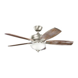 Kichler - Kichler Canfield Pro 2-Light Brushed Nickel Ceiling Fan - 337016NI - This 2-Light Ceiling Fan is part of the Canfield Pro Collection and has a Brushed Nickel Finish.