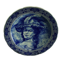 Boch - Consigned Vintage Blue Delft Transferware Plate - Product Details