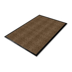 Genuine Joe - Genuine Joe Dual Rib Carpet Floor Mat - 72 Length x 48 Width - Polypropylene - Floor mat features a dual-ribbed carpet top that cleans dirt and moisture from shoes, capturing both on contact and trapping them in the floor mat. Carpet top is made of polypropylene for durability. The smooth vinyl backing is chemical-resistant in case of spills. Floor mat is recommended for hard surfaces.