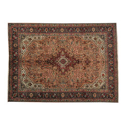 1800-Get-A-Rug - Persian Tabriz Full Pile Hand Knotted Oriental Rug 100% Wool Sh18952 - Persian hand knotted rugs have always been the most sought after rugs due to their tremendous variety of design and superb quality. A Persian area rug is usually named after the town or district where they are woven or by the weaving tribe in the case of nomadic pieces.