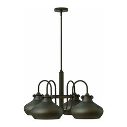 Hinkley Lighting - 3048OZ Congress Chandelier, Oil Rubbed Bronze, Oil Rubbed Bronze Glass - Traditional Single Tier Chandelier in Oil Rubbed Bronze with Oil Rubbed Bronze glass from the Congress Collection by Hinkley Lighting.