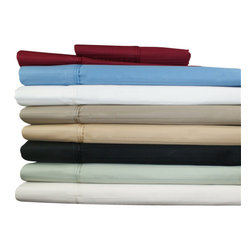 "Bed Linens - Egyptian Cotton 800 Thread Count Stripe Pillowcase Sets Standard Burgundy - Add an elegant touch to any bedroom d�cor with this 100% Egyptian Cotton 800 thread count soft and durable pillowcase set.  These 800 thread count pillowcases of premium long-staple cotton are ""sateen"" because they are woven to display a lustrous sheen that resembles satin."
