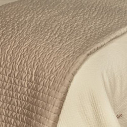 Rosetree - Rose Tree Montpellier Coverlet - This solid pickstitch Montpellier coverlet abounds with rich texture and softness, making it the perfect layering piece to complete your bedding ensemble.