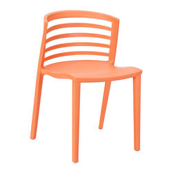 Modway Furniture - Modway Curvy Dining Side Chair in Orange - Dining Side Chair in Orange belongs to Curvy Collection by Modway Indulge in no-frills, straightforward contemporary style with this modern multi-purpose chair. Made from heavy-duty molded plastic this chair was built to last. Eye catching and comfortable, this reproduction brings fashion and flavor to your space. Set Includes: One - Curvy Plastic Chair Side Chair (1)