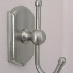 Cambridge Robe Hook - Cambridge robe hook in satin nickel.
