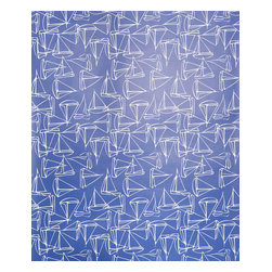 Kimberly Lewis Home - Set Sail Wallpaper Sheet, Navy - Get ready for smooth sailing with this nautical-themed wallpaper. Cover the books on your shelf, the back of the shelf or just about anywhere you need a little cool ocean spray.