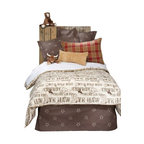 "Glenna Jean - Carson Reversible Cowboy Print Childrens Duvet - The Carson Reversible Cowboy Print Childrens Duvet by Glenna Jean will look great in any child's room. The Twin Duvet Cover measures 62"" x 91"". The Full/Queen Duvet Cover measures 87"" x 91""."