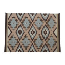 1800-Get-A-Rug - Southwest Style Hand Woven Navajo Design Reversible Sh8388 - About Flat Weave