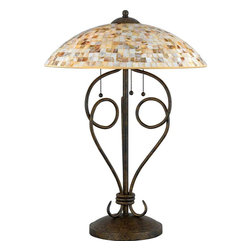 Quoizel MY6325ML Monterey Mosaic Malaga Table Lamp - 3, 60W A19 Medium
