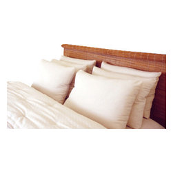 Holy Lamb Organics - Organic Cotton & Wool Pillow, King Regular Fill - These hand made wool pillows are made with Premium Eco-Wool batting and covered with organic cotton Sateen fabric. Pillows made with wool batting are smooth, soft and are available in 3 different thicknesses to suite your comfort: Light Fill, Regular Fill & Extra Thick. These varying thicknesses come in standard size only. We also make a queen or king size pillow in Regular Fill. Please know that your wool pillow will be very fluffy upon arrival, but will settle over time with the weight and heat of your head. This will not change the support and comfort this pillow provides. Expect about 30% compression. For children, we recommend the Light Fill. The regular fill is our most popular thickness.
