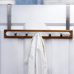 Samsonite - Samsonite 5-hook Stainless Steel/ Bamboo Over-the-Door Hanger - Store your towels,coats,hats or other accessories with this help of this five hook hanger. Made of bamboo and stainless steel,this sturdy over-the-door hanger is designed to keep your items out of the way.