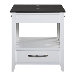 "Decolav - Decolav Ambrosia 24"" Top - DECOLAV's Ambrosia Vanity includes a black granite top with single faucet hole drilling. Includes the built-in towel bars. The single drawer with dovetail joints provide ample storage space."