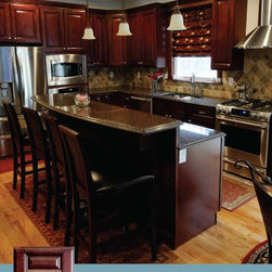Brown Kitchen Cabinets  | Pacifica Door Style  |  Kitchen Cabinet Kings -