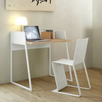 WorkSpace and Home Office | Smart Furniture - The Volga desk is perfect for the compact modern apartment. Find it at SmartFurniture.com