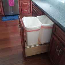 Modern Trash Cans by ATC Cabinets
