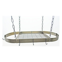 "Rogar - Oval with Grid, Hammered Bronze/Black - Dimensions:  34"" x 16"