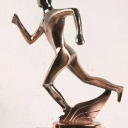 BA - 8 Inch Large Nickel Alloy In Motion Track Runner Figurine Statue - This gorgeous 8 Inch Large Nickel Alloy In Motion Track Runner Figurine Statue has the finest details and highest quality you will find anywhere! 8 Inch Large Nickel Alloy In Motion Track Runner Figurine Statue is truly remarkable.