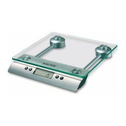 "Taylor - Aquatronic Glass Kitchen Scale - Salter Aquatronic glass electronic kitchen scale - weighs both dry and liquid ingredients; .6"" LCD readout; includes baker's chart for conversion of weights to volume for selected ingredients; auto and manual off; add & weigh tare feature; 11 lb/5 kg capacity in 1/8 oz/1 g increments  This item cannot be shipped to APO/FPO addresses. Please accept our apologies."
