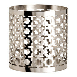 Tea Light Holder, Silver - I love these silver Moroccan-inspired cutouts. They'll make beautiful shadows on your walls.