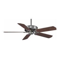 Casablanca - Casablanca DC Panama 6 Speed Ceiling Fan in Brushed Nickel - Casablanca DC Panama 6 Speed Model CA-59511 in Brushed Nickel with Reversible Walnut/Burnt Walnut Finished Blades.
