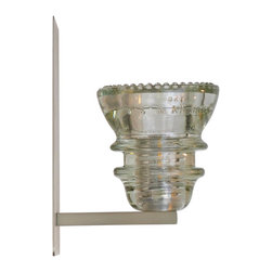 LED Insulator Light Sconce 1 - clear 42 - insulator light sconce by Railroadware,  made in USA